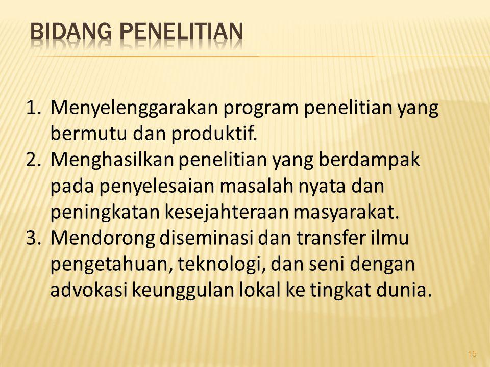 1.Menghasilkan lulusan dengan kompetensi yang relevan dengan kebutuhan masyarakat masa depan.