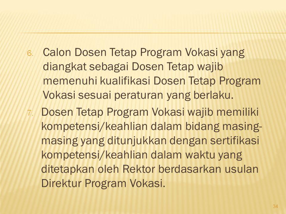 3.Dosen Tetap Program Vokasi tersebut dapat berupa : a.