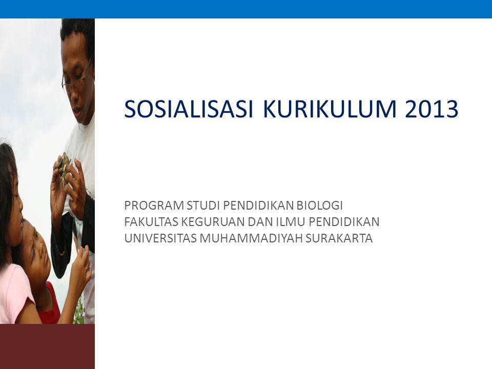 SOSIALISASI KURIKULUM 2013 PROGRAM STUDI PENDIDIKAN BIOLOGI FAKULTAS KEGURUAN DAN ILMU PENDIDIKAN UNIVERSITAS MUHAMMADIYAH SURAKARTA