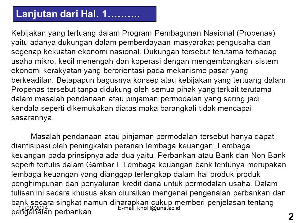 12/09/2014E-mail: kholil@uns.ac.id LEMBAGA KEUANGAN LAIN