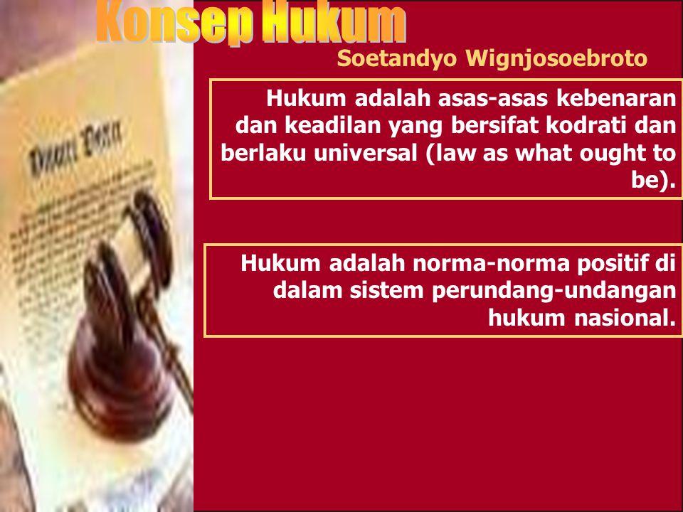 Soerjono Soekanto Hukum dalam arti ilmu (pengetahuan) Hukum dalam arti disiplin atau sistem ajaran tentang kenyataan Hukum dalam arti kaedah atau norm