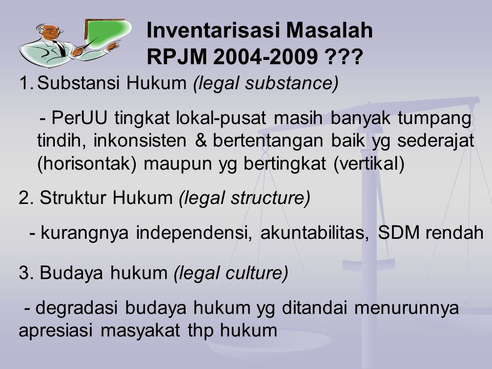 1.Masa Lalu, terkait sejarah perjuangan bangsa - Tdk boleh dihilangkan spy perUU tetap sejalan dg 7-an dibentuknya neg Indonesia (unsur filosofis) 2.