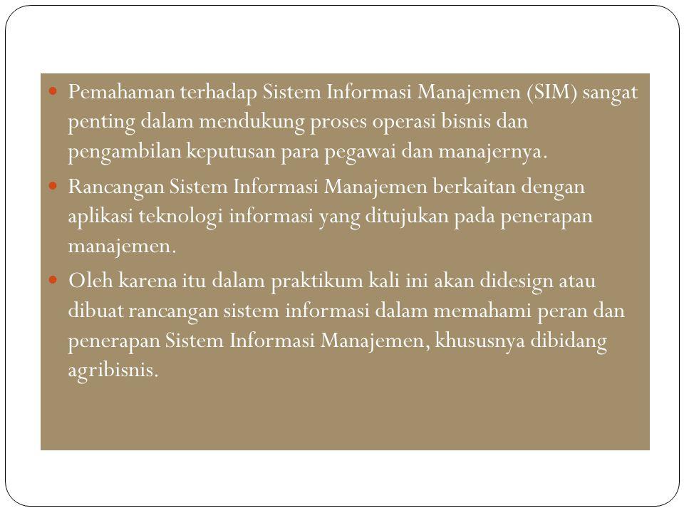 Pemahaman terhadap Sistem Informasi Manajemen (SIM) sangat penting dalam mendukung proses operasi bisnis dan pengambilan keputusan para pegawai dan ma