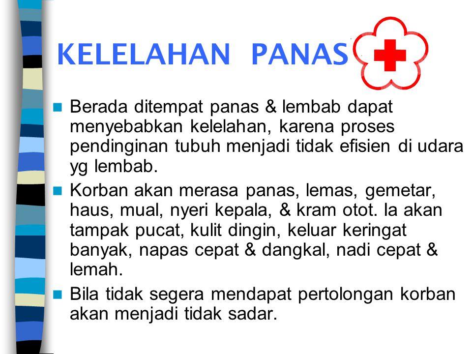 –Jika korban masih mempunyai persediaan obat dari dokter, bantu minum obat tsb. –Awasi ABC (bila tidak ada) RJP. –Rujuk kerumah sakit.