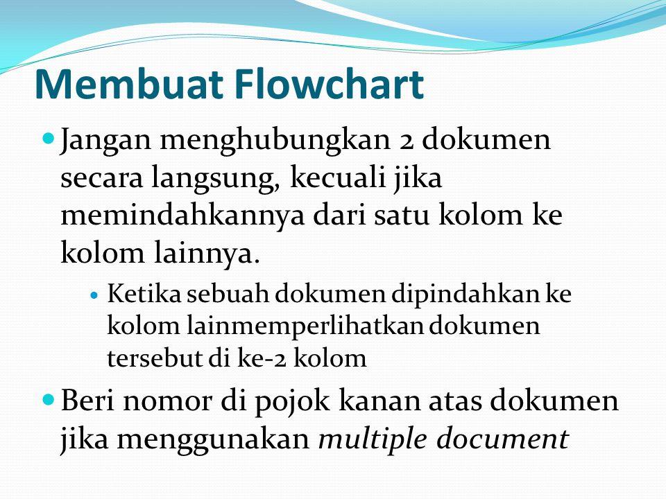 Jangan menghubungkan 2 dokumen secara langsung, kecuali jika memindahkannya dari satu kolom ke kolom lainnya.