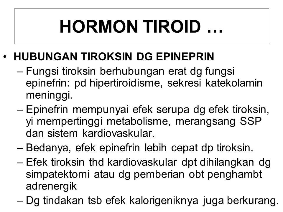 1.5 GANGGUAN FUNGSI Pd umumnya gejala klinik yg timbul karena hipofungsi maupun hiperfungsi tiroid dpt diduga apabila fungsi hormon tiroid diketahui.