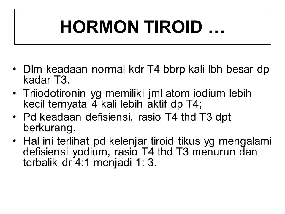 SEKRESI DAN KONVERSI HORMON TIROID Tiroksin dan triiodotironin disintesis dan disimpan sbg bagian dr molekul tiroglobulin, karena itu utk sekresinya diperlukan proses proteolisis.
