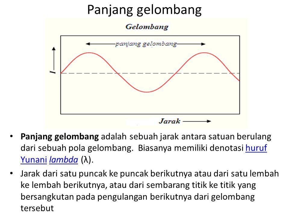 Panjang gelombang Panjang gelombang adalah sebuah jarak antara satuan berulang dari sebuah pola gelombang.