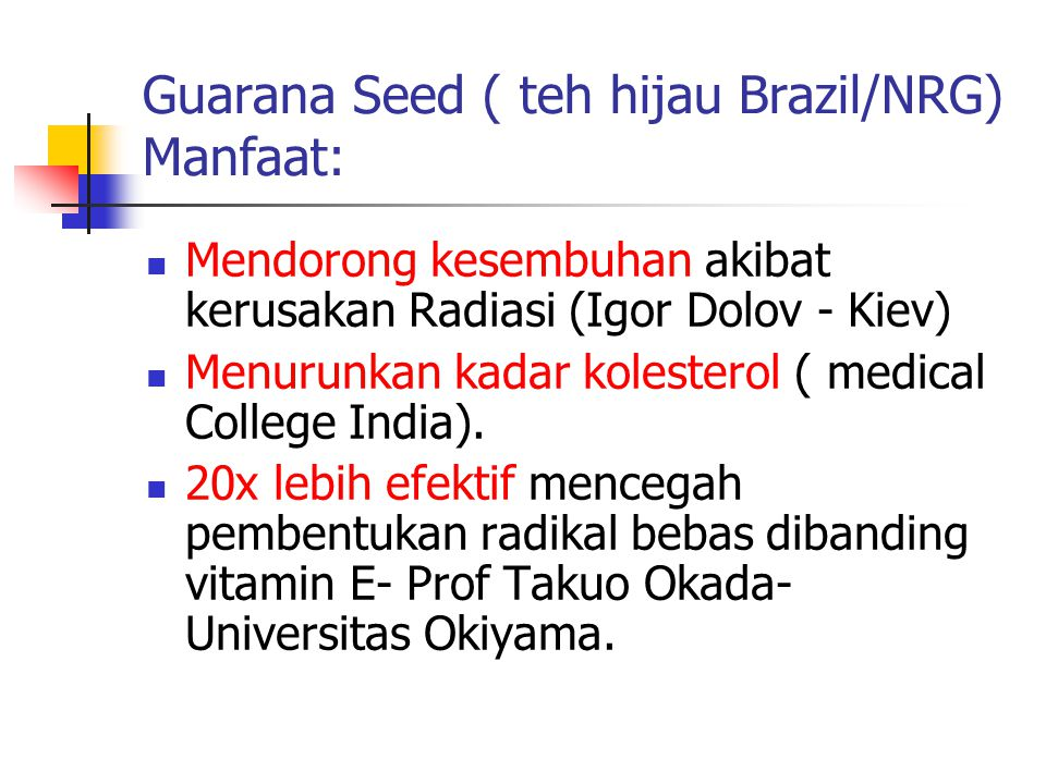 D Alpha Tocopherol (vitamin E) Antioksidan yang kuat.