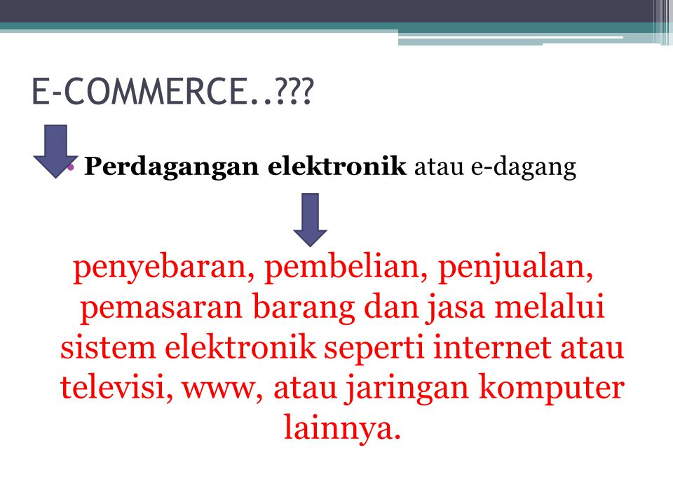 E-COMMERCE..??.