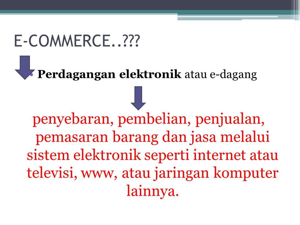 KOMPONEN E-COMMERCE..?.Beberapa komponen dalam e-commerce… transfer dana elektronik.
