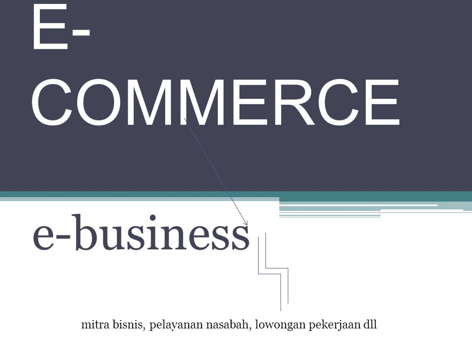 e-business E- COMMERCE mitra bisnis, pelayanan nasabah, lowongan pekerjaan dll