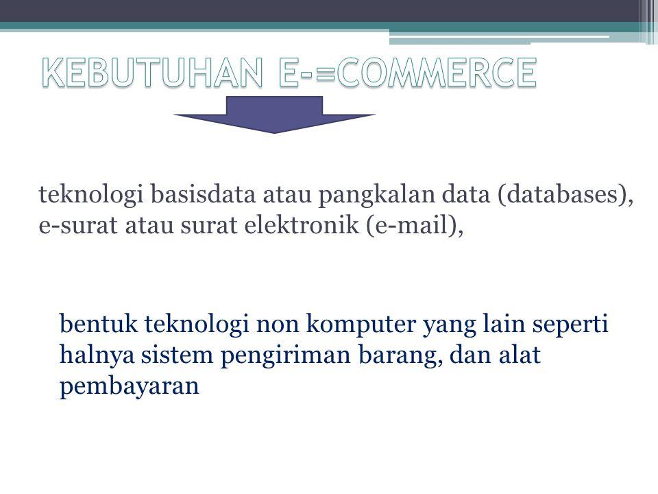 teknologi basisdata atau pangkalan data (databases), e-surat atau surat elektronik (e-mail), bentuk teknologi non komputer yang lain seperti halnya si