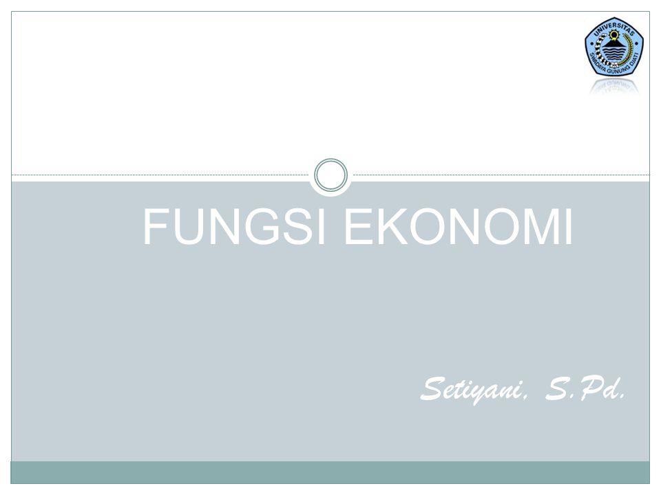 FUNGSI Fungsi adalah hubungan antara 2 variabel atau lebih yang saling mempengaruhi Contoh : 1.