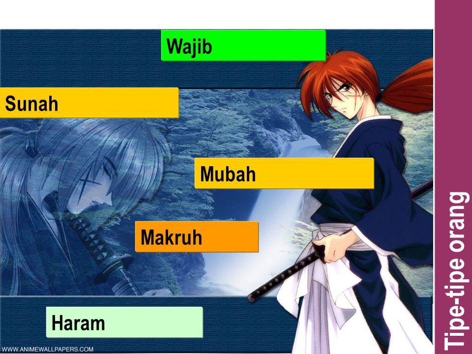 Tipe-tipe orang Wajib Sunah Makruh Haram Mubah