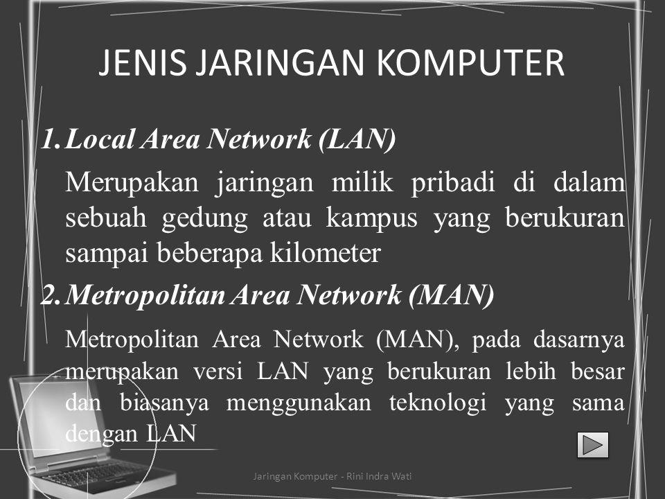 Definisi Jaringan Jaringan komputer adalah kumpulan komputer, printer, dan peralatan lainnya yang terhubung dalam satu kesatuan. Informasi dan data be