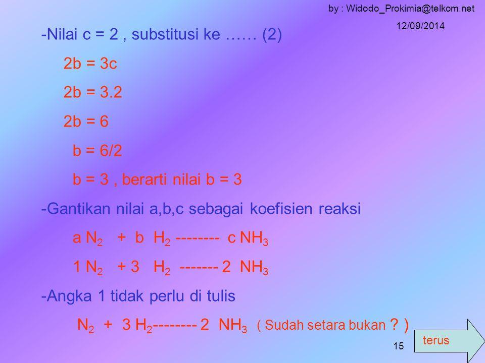 terus 12/09/2014 by : Widodo_Prokimia@telkom.net 14 Penyelesaian : a.
