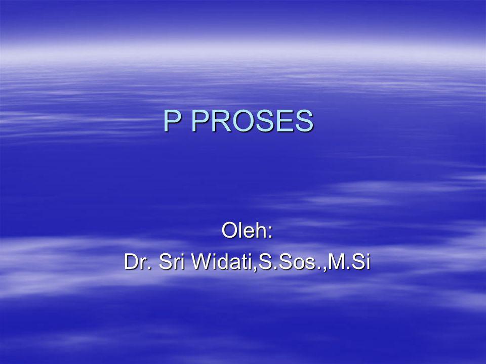 P PROSES Oleh: Dr. Sri Widati,S.Sos.,M.Si