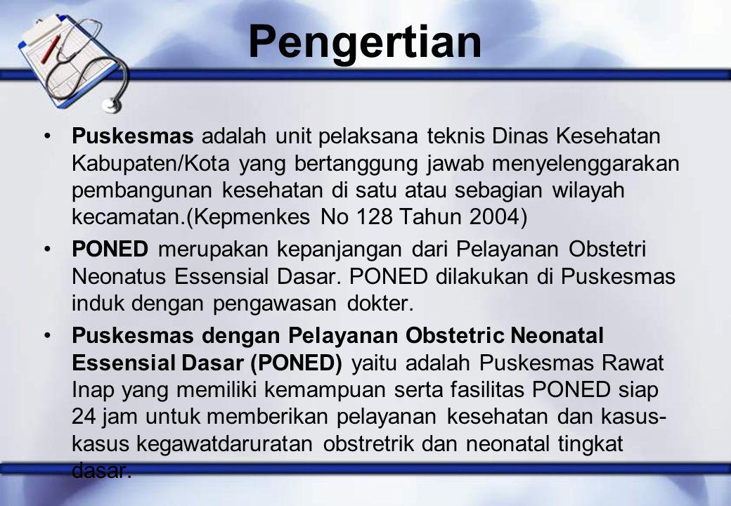 Pengertian Puskesmas adalah unit pelaksana teknis Dinas Kesehatan Kabupaten/Kota yang bertanggung jawab menyelenggarakan pembangunan kesehatan di satu