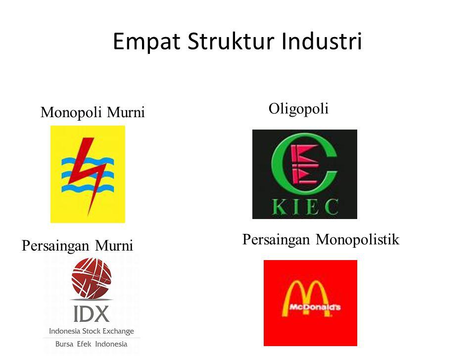 Empat Struktur Industri Monopoli Murni Persaingan Murni Oligopoli Persaingan Monopolistik
