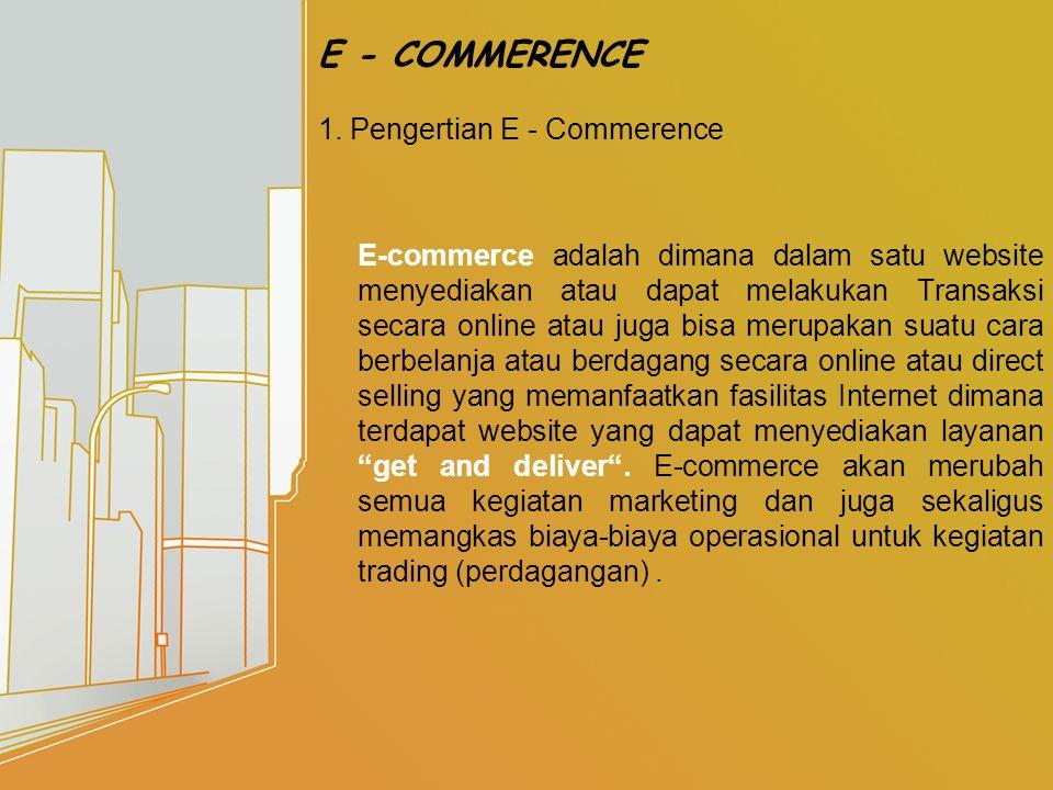 2.Manfaat E – Commerence dalam bisnis 1. Mendapatkan pelanggan baru.