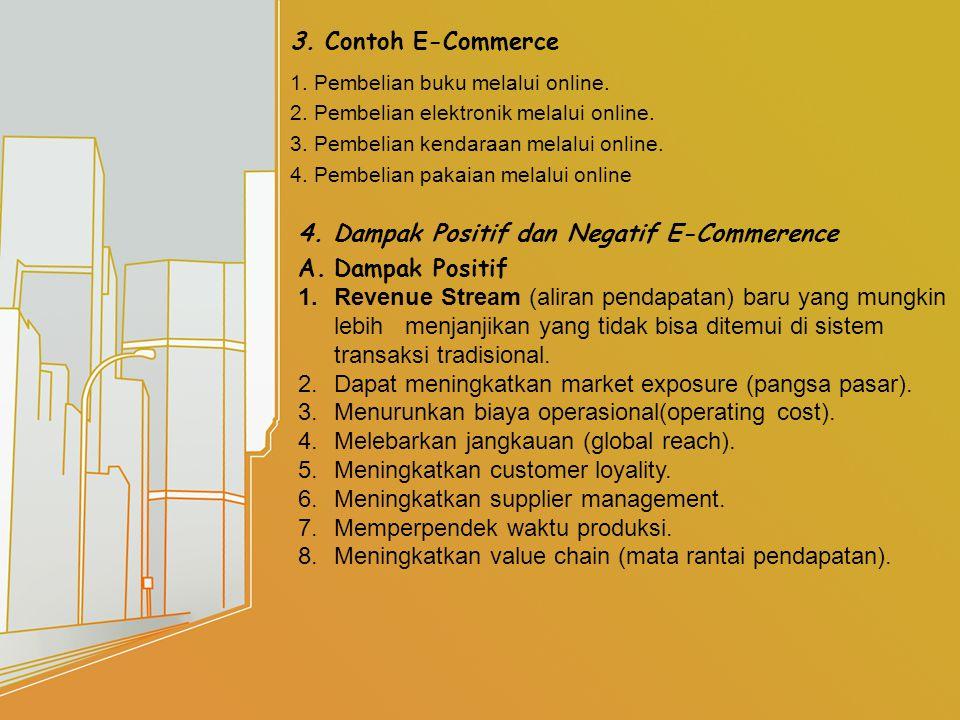 3. Contoh E-Commerce 1. Pembelian buku melalui online.
