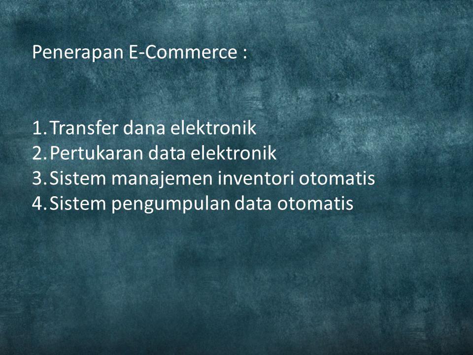 Perdagangan elektronik atau e-dagang bahasa Inggris: Electronic commerce, juga e-commerce adalah penyebaran, pembelian, penjualan, pemasaran barang da