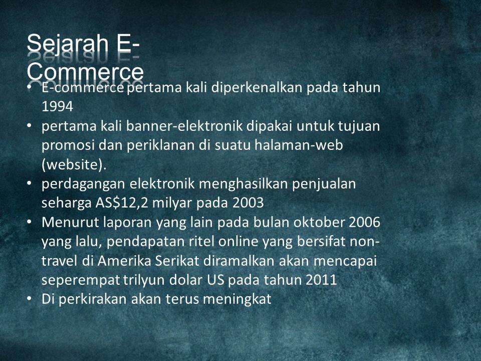 E-dagang atau e-commerce merupakan bagian dari e- business, di mana cakupan e-business lebih luas, tidak hanya sekedar perniagaan tetapi mencakup juga