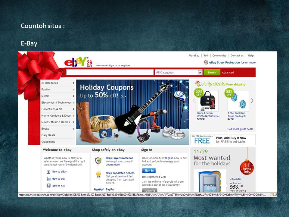 E-commerce pertama kali diperkenalkan pada tahun 1994 pertama kali banner-elektronik dipakai untuk tujuan promosi dan periklanan di suatu halaman-web