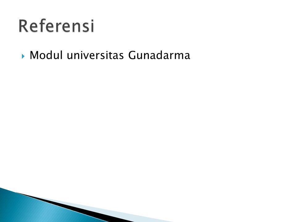  Modul universitas Gunadarma