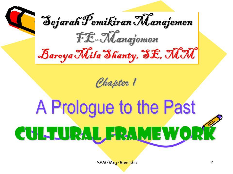 SPM/Mnj/Bamisha3 Manajemen Suatu aktifitas dengan fungsi-fungsi tertentu untuk mencapai perolehan, alokasi dan pemanfaatan sumber daya manusia serta sumber daya fisik secara efektif guna mencapai tujuan-tujuan tertentu