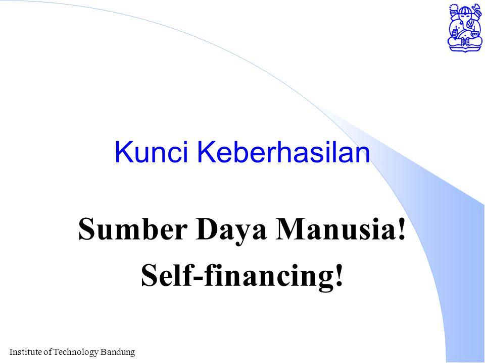 Institute of Technology Bandung Kunci Keberhasilan Sumber Daya Manusia! Self-financing!