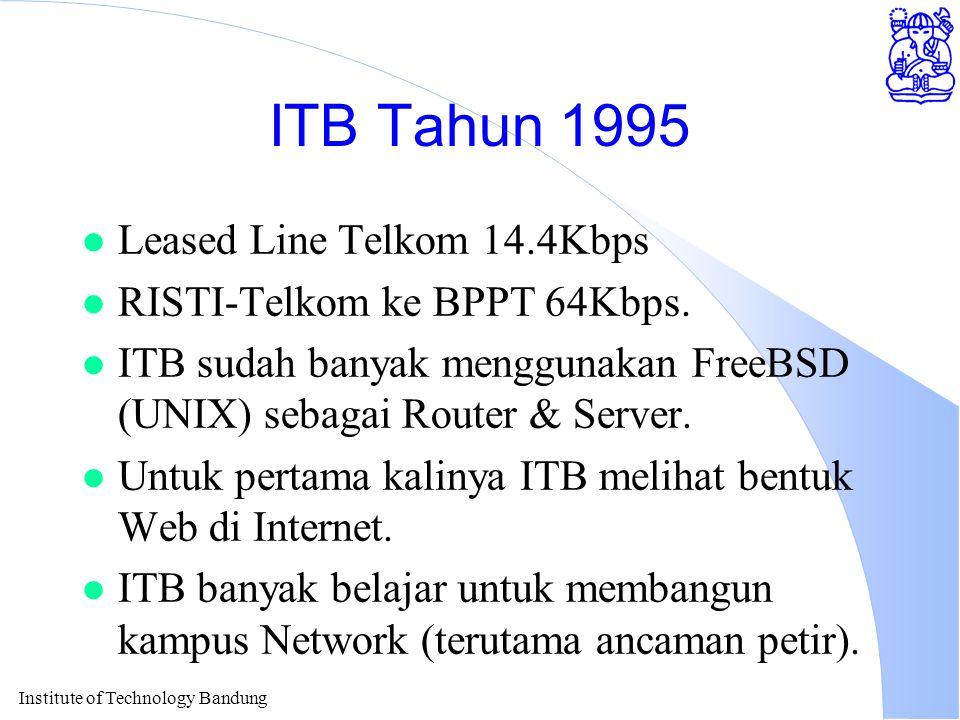 Institute of Technology Bandung Jaringan Kampus ITB