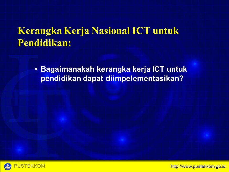 http://www.pustekkom.go.id. PUSTEKKOM Kerangka Kerja Nasional ICT untuk Pendidikan: Bagaimanakah kerangka kerja ICT untuk pendidikan dapat diimpelemen