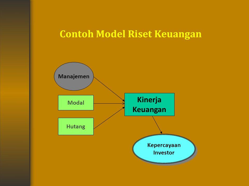 Contoh Model Riset Keuangan Manajemen Modal Hutang Kinerja Keuangan Kepercayaan Investor