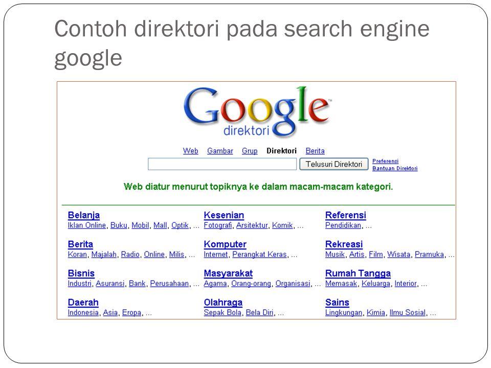 Contoh direktori pada search engine google