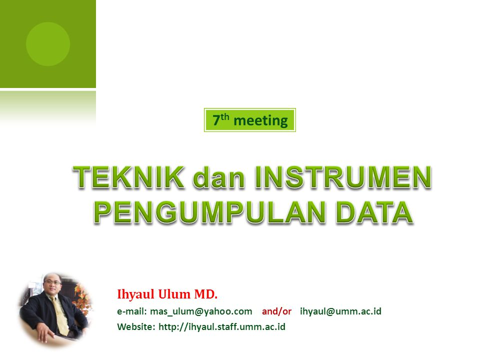 7 th meeting Ihyaul Ulum MD.