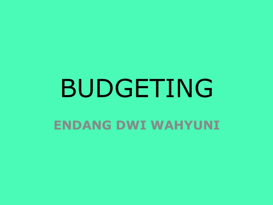 Selling and Administrative Expenses Budget` Sales Budget Production Budget Direct Materials Purchases Budget Direct Labor Budget Overhead Budget Cash Budget Cost of Goods Sold Budget Budgeted IS The Master Budget Ending FG Inventory Budget