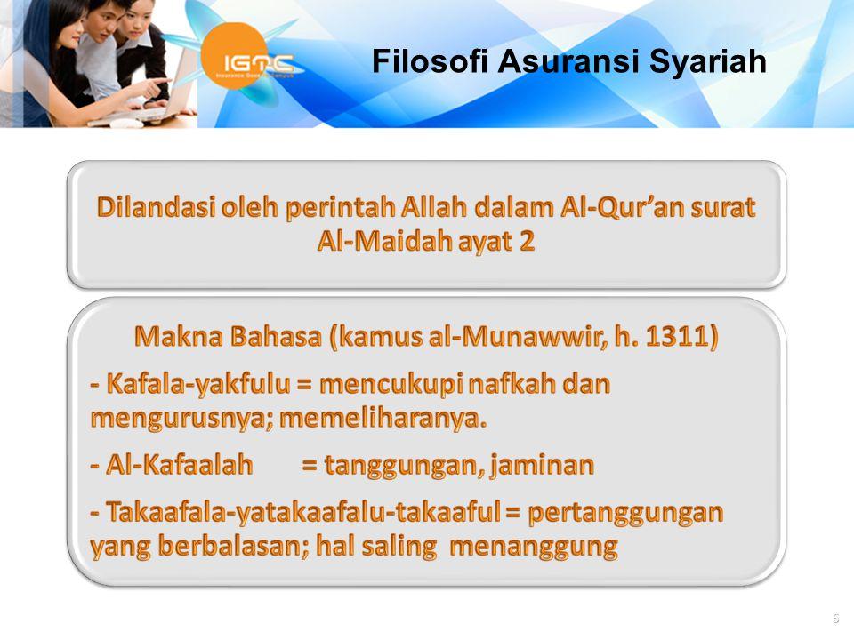 Agus Haryadi 6 Filosofi Asuransi Syariah