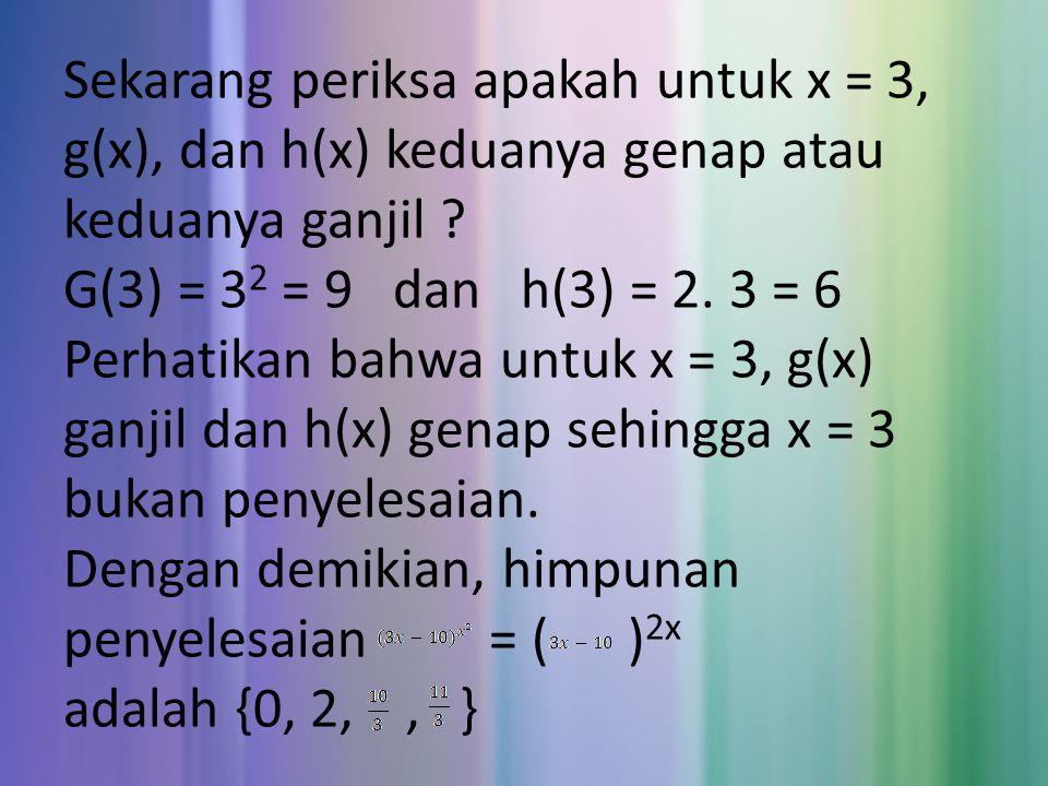 Pertidaksamaan eksponen, Sebelumnya kita telah mengetahui sifat – sifat fungsi eksponen, yaitu sebagai berikut :  Untuk a > 1, fungsi f(x) = a x merupakan fungsi naik, artinya untuk setiap x 1, x 2 berlaku x 1 f(x 2 ).