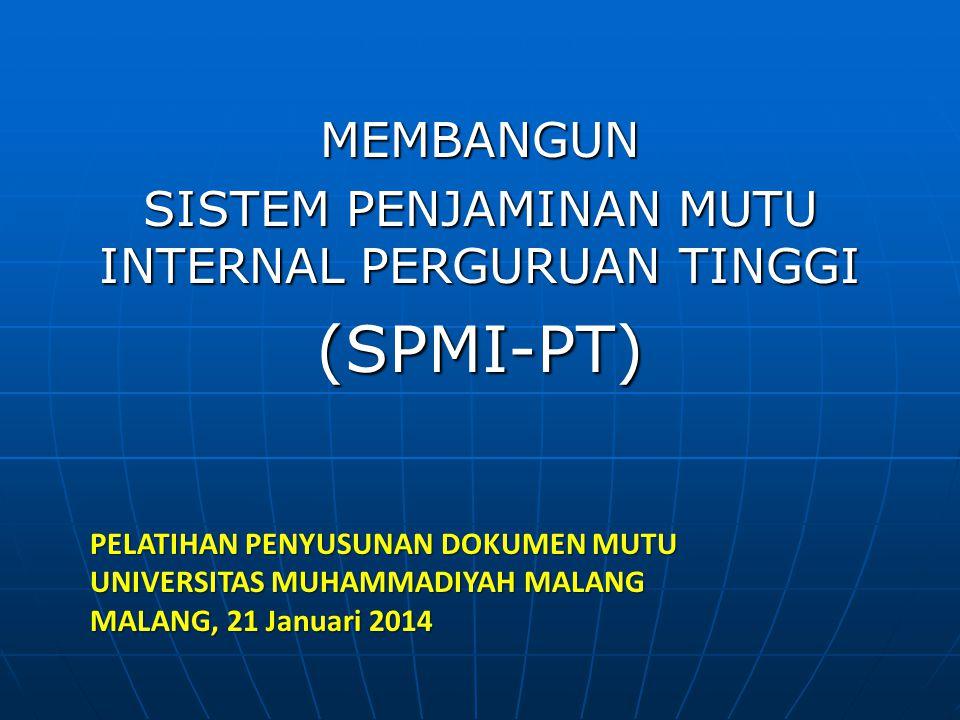 Komponen SPM-PT a.Kelembagaan b.Dokumentasi c.Siklus Implementasi