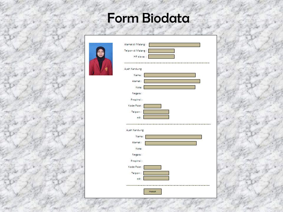 Form Biodata
