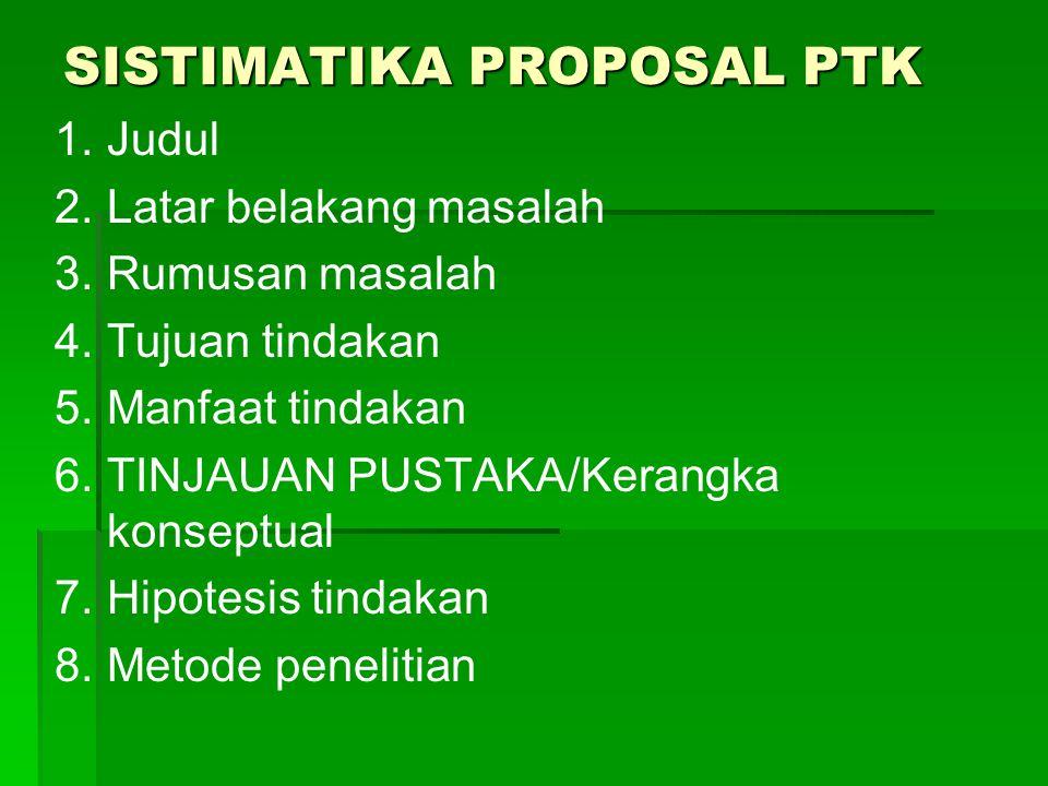 TUGAS  Buatlah Proposal PTK