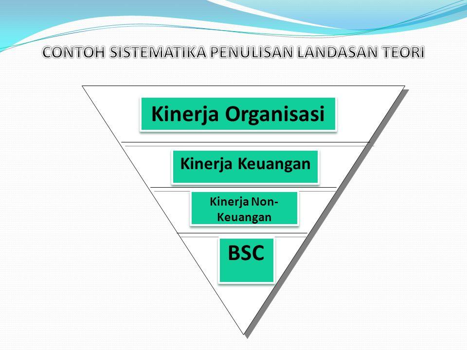 Kinerja Organisasi Kinerja Keuangan Kinerja Non- Keuangan BSC