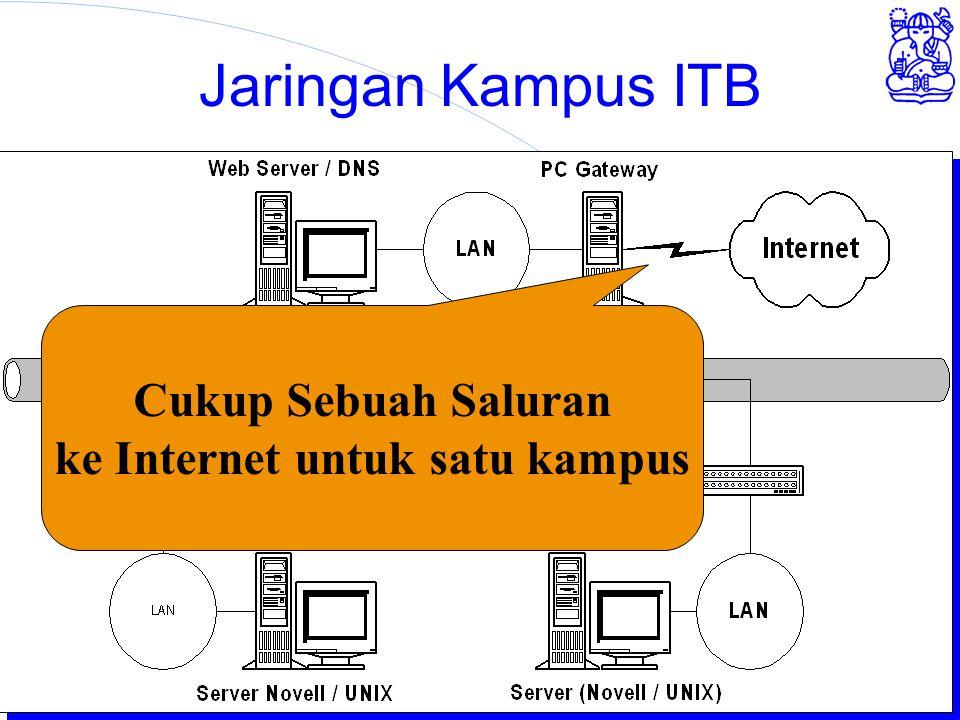 Institute of Technology Bandung Jaringan Kampus ITB Cukup Sebuah Saluran ke Internet untuk satu kampus