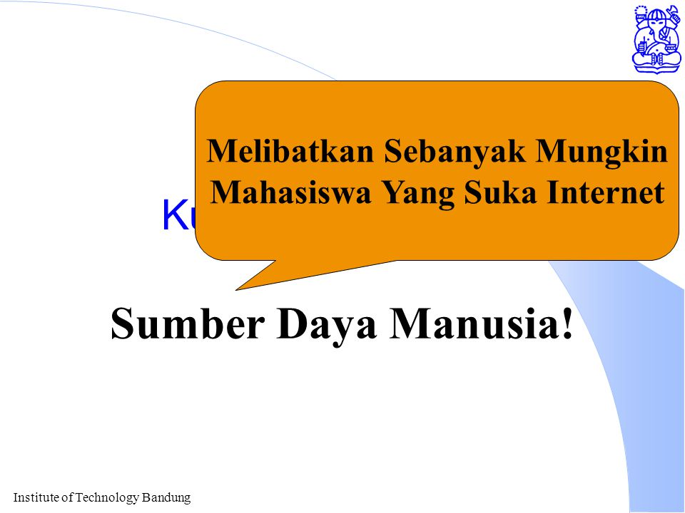 Institute of Technology Bandung Kunci Keberhasilan Sumber Daya Manusia.
