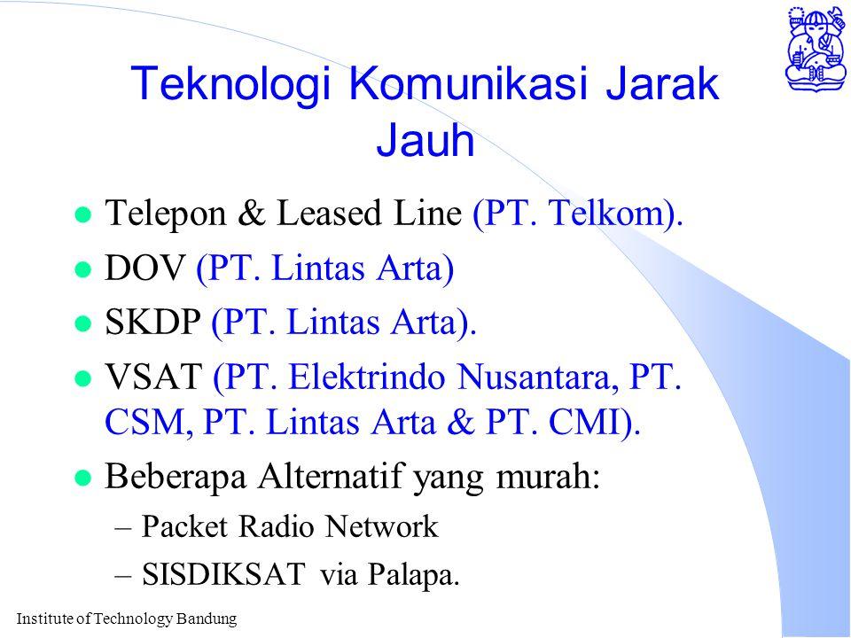 Institute of Technology Bandung Teknologi Komunikasi Jarak Jauh l Telepon & Leased Line (PT.