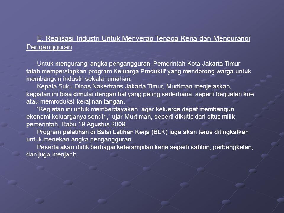 F.Data Pengangguran di Indonesia 1.