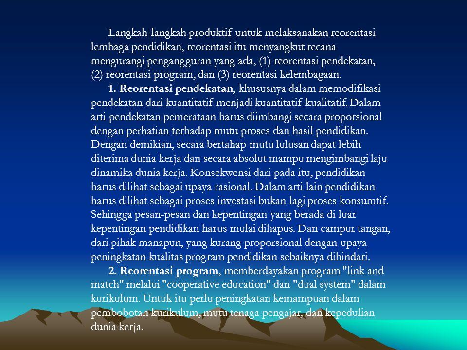 Lembaga pendidikan merupakan sub sistem dari sistem sosial pembangunan, oleh itu keberadaan dan eksistensinya tidak lepas dari sub sistem lainnya.