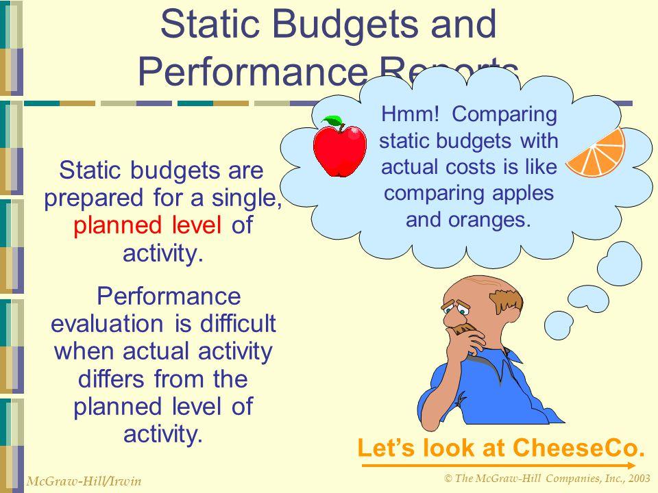 © The McGraw-Hill Companies, Inc., 2003 McGraw-Hill/Irwin c. Grafik Flexible Budget, hampir sama dengan grafik Fixed Cost dan Variabel cost. d. Menghi